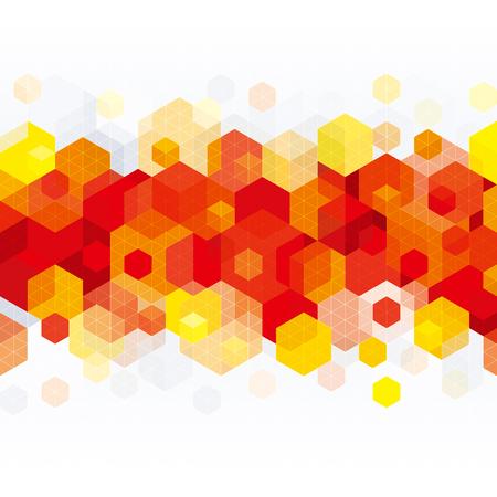 forme geometrique: Résumé forme géométrique fond rouge. Illustration