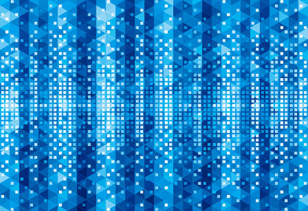 textured backgrounds: Blue pixels geometric glowing abstract background. Illustration