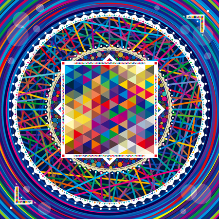 design elements: Abstract geometric composition colorful modern pattern background.