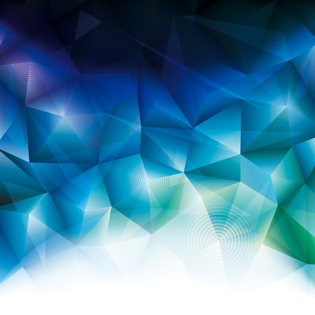 Abstract polygonal blue crystal background design.