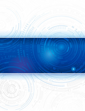 Technology composition blue abstract background design. Illustration
