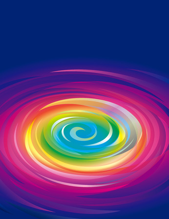whirlpool: Colorful swirling rainbow abstract background. Illustration