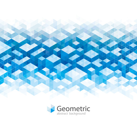 Geometric blue urban abstract banner background. Illustration