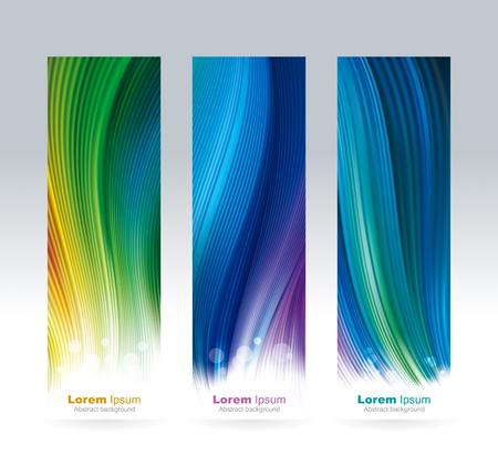 抽象的な色のメッシュ画面の壁紙の背景垂直バナー。
