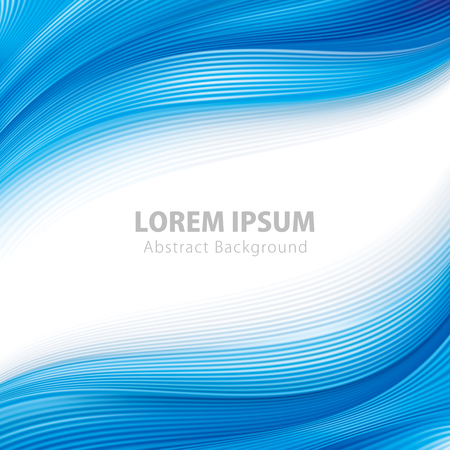 Abstract blue mesh wave wallpaper background. Illustration