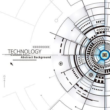 Technology composition electronics circuit abstract design background. Illustration