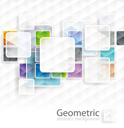 Abstract square cubes background with copy space. Illustration