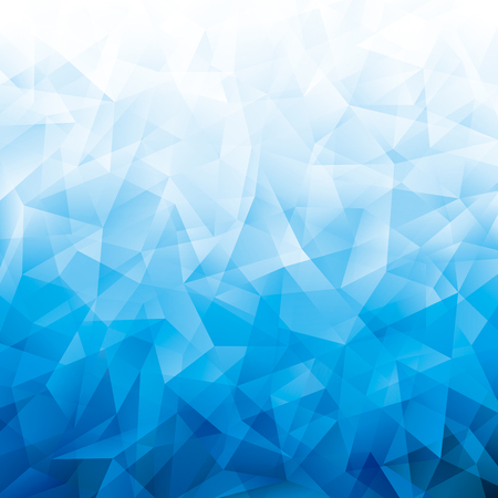 Geometric cold blue polygon pattern abstract background.