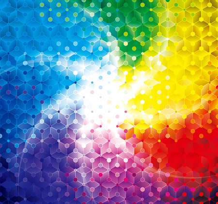 Colorful shining geometric pattern abstract modern background.