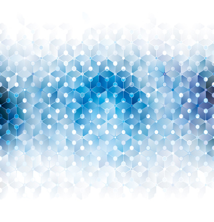 Blue technology abstract geometric pattern background.