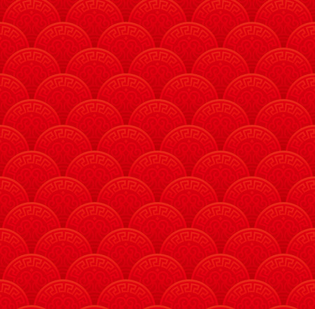 Red classical Chinese seamless wallpaper pattern.
