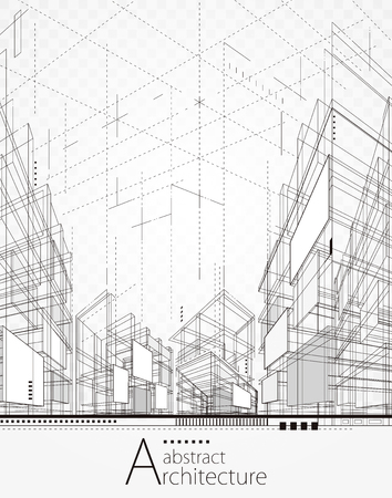 Architecture bâtiment lignes de perspective, abstrait de l'architecture urbaine moderne.