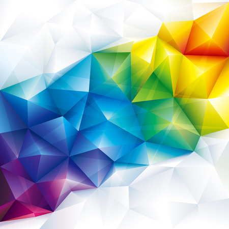 Abstract polygonal gems colorful geometric