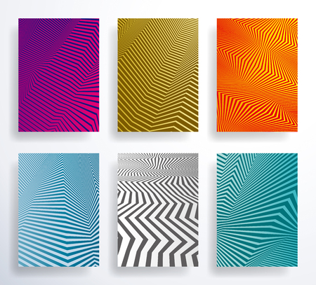 Geometric halftone gradients abstract background template design set. Illustration