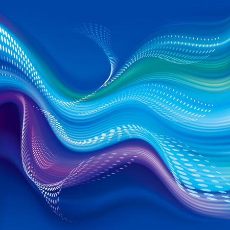 Colored smooth wave modern abstract wallpaper