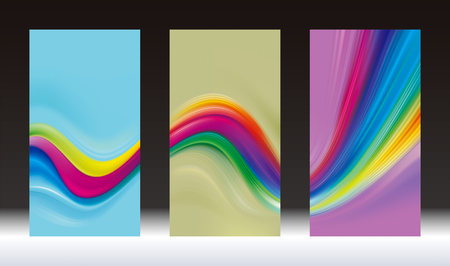 Abstract colored  mesh screen wallpaper background vertical bunting banners.