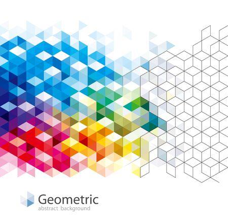 Geometric pattern abstract modern background design. Illustration