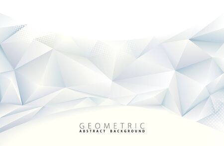 Fondo geométrico gris poligonal abstracto.