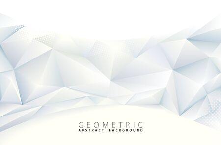 Fondo geometrico grigio poligonale astratto.