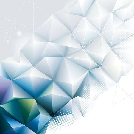 Abstract modern polygonal geometric background.
