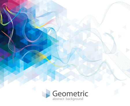 Geometric pattern with wave lines abstract modern design.