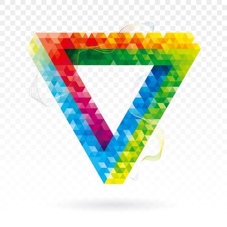 Geometric optical illusion modern triangle abstract background. Illusztráció