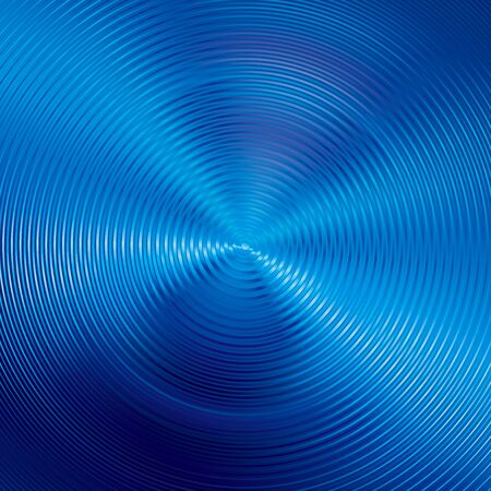 Blue round circular waves abstract technology background.