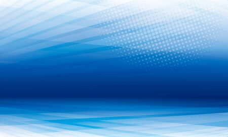 Blue theme perspective modern geometric abstract background.