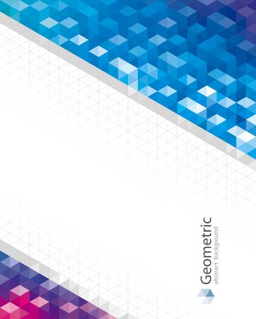 Geometric pattern abstract modern background design. Illusztráció