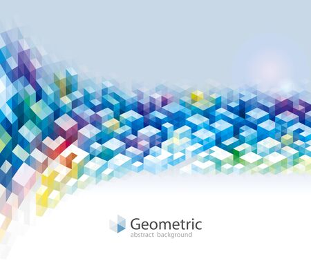 Colorful geometric patterns modern urban abstract background, triangles polygon geometric shapes, 3D cube Geometry banner design.