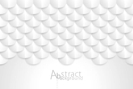 Geometric pattern texture white wallpaper abstract background with copy space. Illusztráció