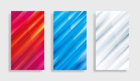 Geometric gradients abstract wallpaper background template design set. Illusztráció