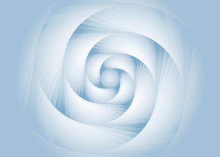 Geometric gradients inspiring shape, spiral stair steps abstract background.