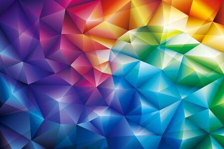 Abstract geometric pattern colorful gem modern background. Illusztráció