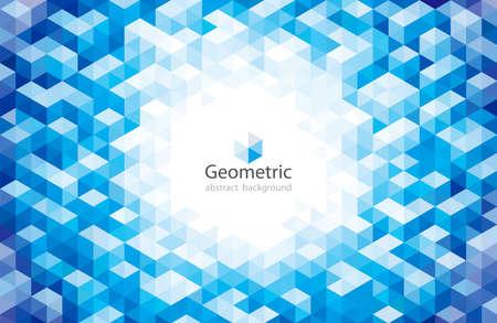 Geometric modern pattern circular blue abstract background. Illusztráció