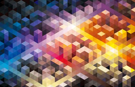 Abstract geometric shape colorful modern urban background.
