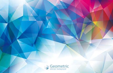 Geometric colorful modern abstract polygonal gems background.
