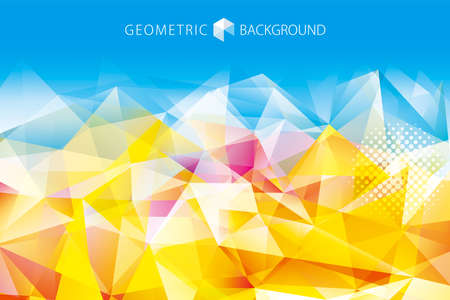 Geometric gold polygonal gems crystal abstract background.