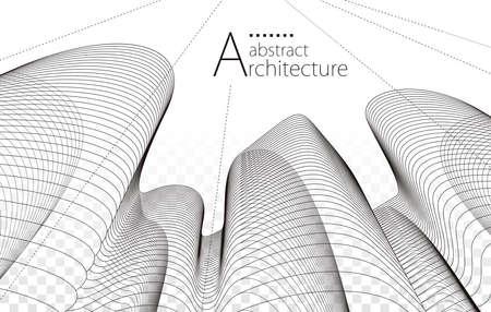 Architecture building construction perspective design