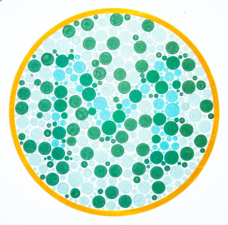 Color blindness test chart