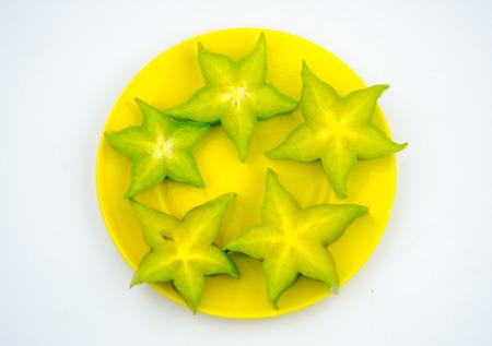 star fruit: Cuted star fruit Stock Photo