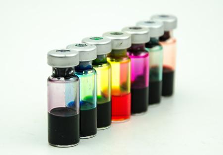 nursing bottle: Amp bottled potions Stock Photo