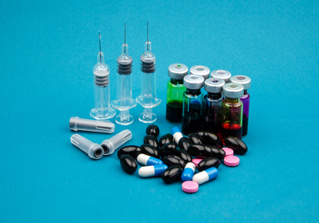 nursing bottle: Syringes and drugs