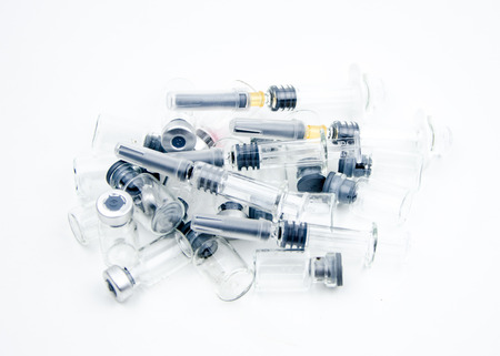 amp: Syringes and amp bottle
