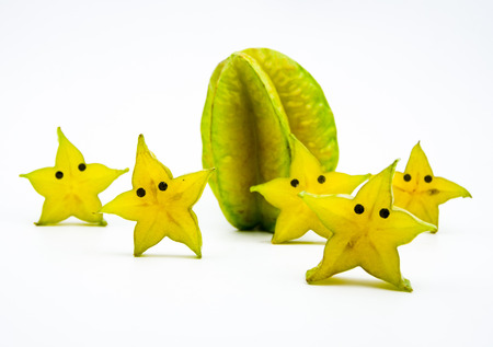 personification: Anthropomorphic fruit-Carambola Stock Photo