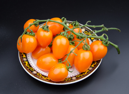 personification: Cherry tomatoes Stock Photo