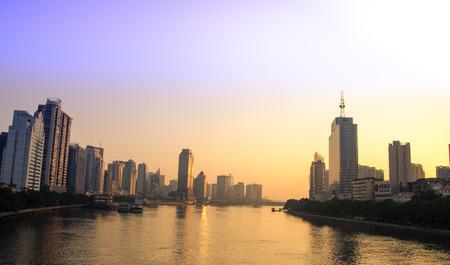 Guangzhou: Guangzhou Pearl River sunrise scenery