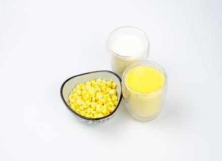celulosa: El ma�z, jugo y leche Foto de archivo