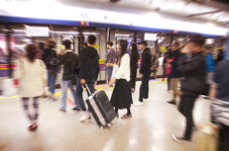 People entering a train Фото со стока - 105278445