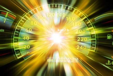 Light effects on a speed meter